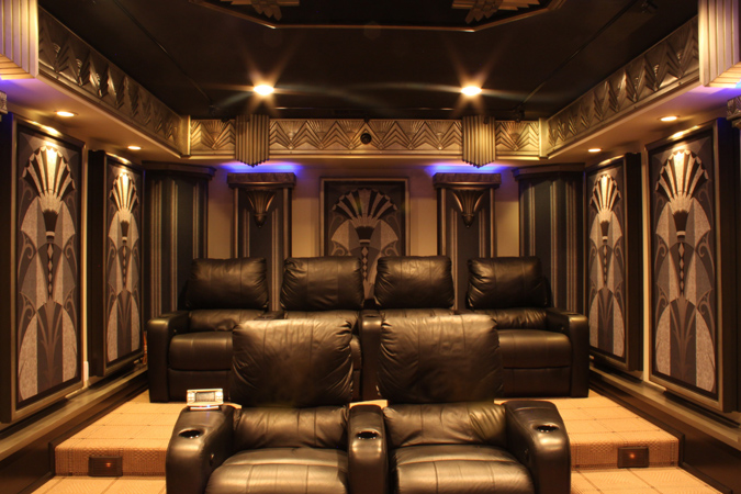 new york art deco home theater design